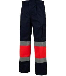 Pantalón alta visibilidad Rojo/Marino