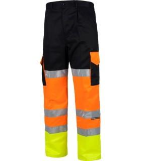 Pantalón alta visibilidad tricolor