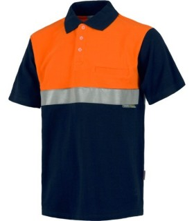 Short sleeve, combinated shoulder part, one chest pocket, one reflective tape