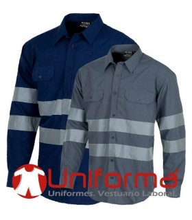Work shirt long sleeve withreflective tapes.
