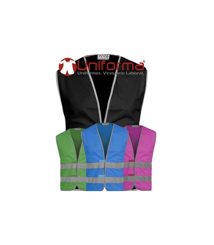 Chalecos reflectantes de colores en Uniforma