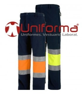 Pantalon Workshell triple capa alta visibilidad.