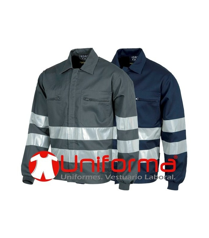 Jacket with reflective tapes