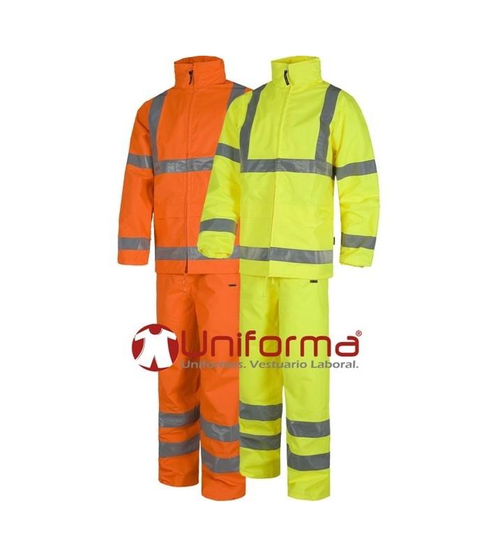 Impermeables de alta visibilidad EN ISO 20471 Clase 3