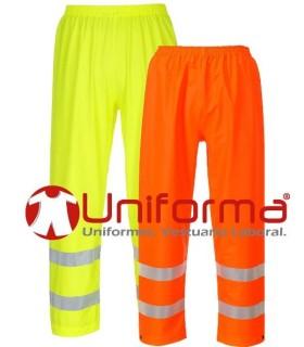 Pantalón impermeable ignífugo de alta visibilidad