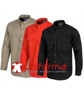 Camisa de trabajo de manga larga de algodón 100%