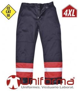 Pantalón Ignífugo para soldador, anti-estático y reflectante