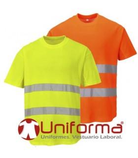 Camisetas alta visibilidad en algodón poliester