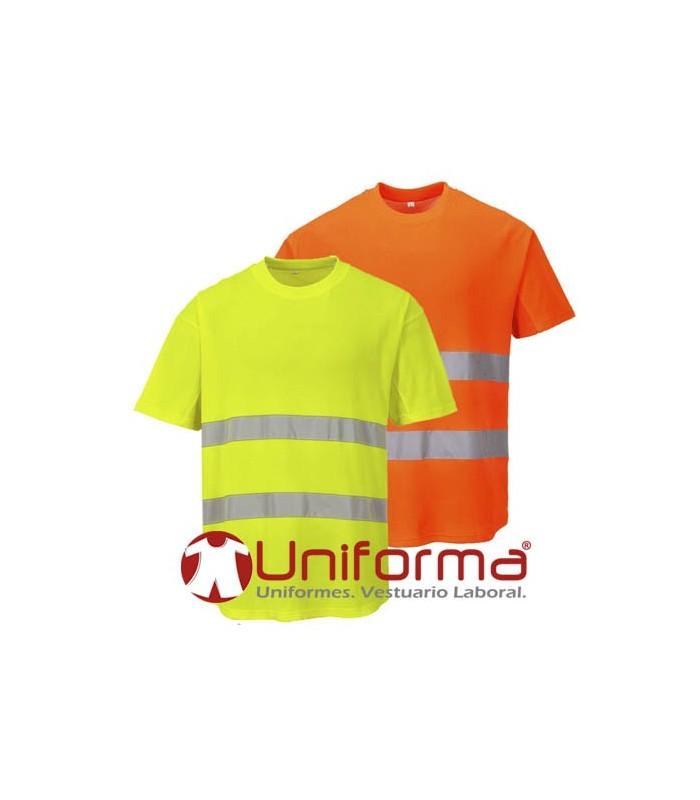 Camisetas de trabajo de alta visibilidad con el interior de algodón en Uniforma