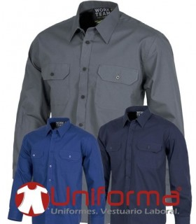 Work shirts long sleeve 100% cotton