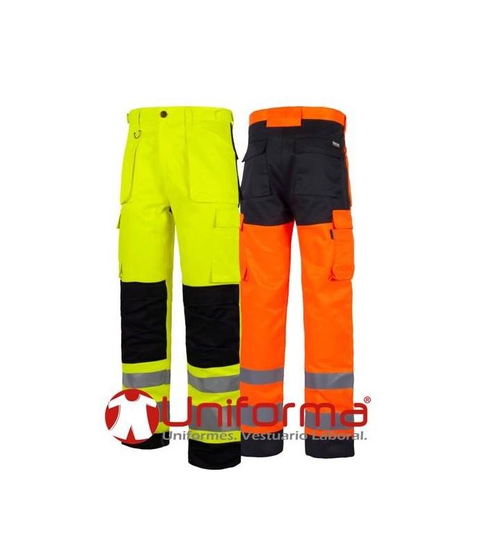Pantalón de alta visibilidad bicolor.
