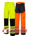 Multipocket trousers in high visibility
