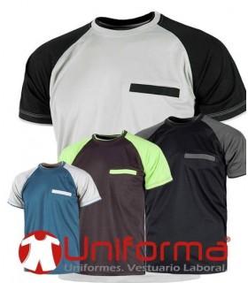 Camiseta técnica bicolor
