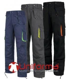 Pantalón de trabajo bicolor alta calidad.