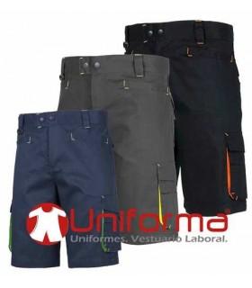 Bermudas de trabajo bicolor de alta calidad en Uniforma