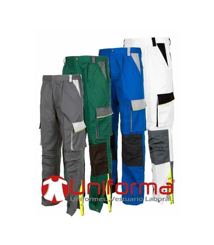 Pantalón de trabajo tricolor con rodilleras en Uniforma