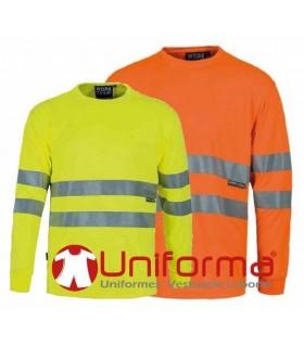 Camiseta de manga larga alta visibilidad