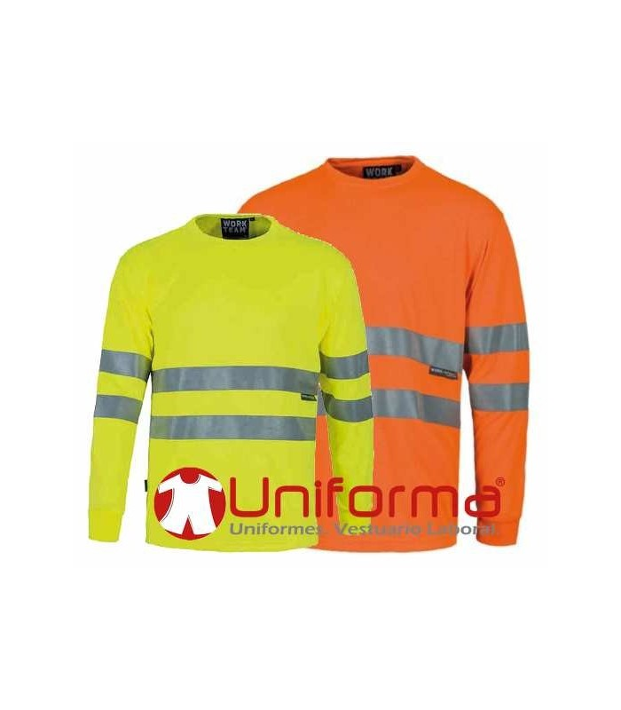 Camisetas de manga larga de alta visibilidad en Uniforma
