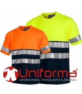 Camiseta de alta visibilidad bicolor