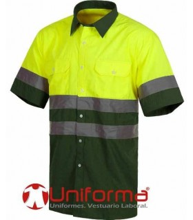 Camisa alta visibilidad verde oscura