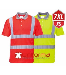 Polo de alta visibilidad disponible en tallas grandes hasta 7XL