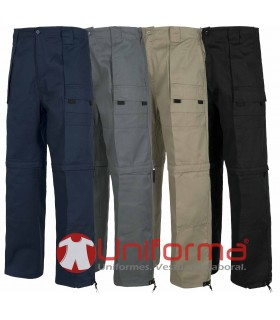 Trousers. Elastic waist, multi pocket, detachable legs.