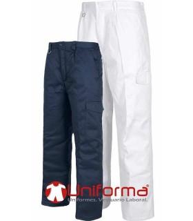Pantalones de trabajo forrados contra el frío alimentación