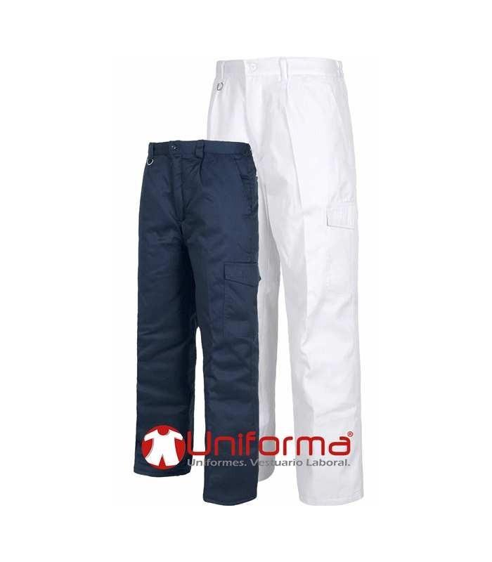 Trousers. Elastic waist, one leg pocket, padded lining.