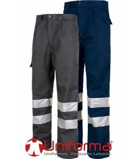 Pantalón de trabajo forrado con bandas reflectantes