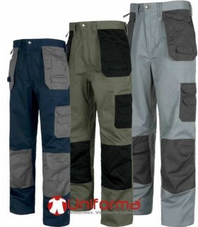 Work trousers with pockets for tools.