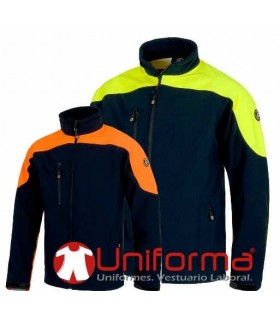 Chaqueta Workshell polar bicolor.