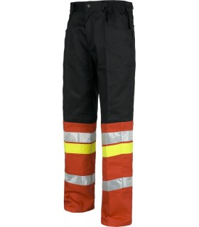 Pantalón bicolor bandas reflectantes.