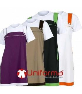 Pichi o casulla de tirantas de colores en Uniforma