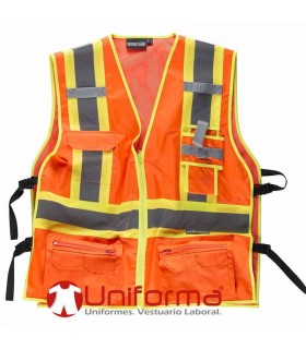 High Visibility Vest with Bicolor tapes