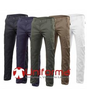 Pantalones de trabajo elásticos multibolsillos en uniforma
