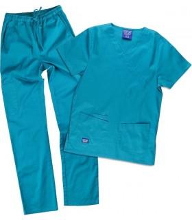 Conjunto uniforme Sanitario tejido Elástico azul