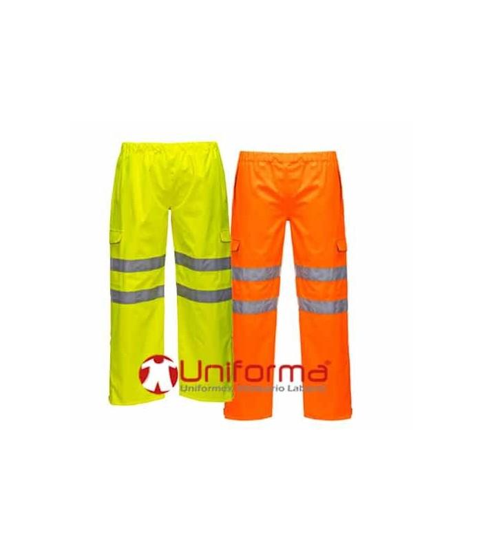 comparar el precio cómo hacer pedidos fina artesanía Pantalón Impermeable de alta visibilidad para lluvia intensa