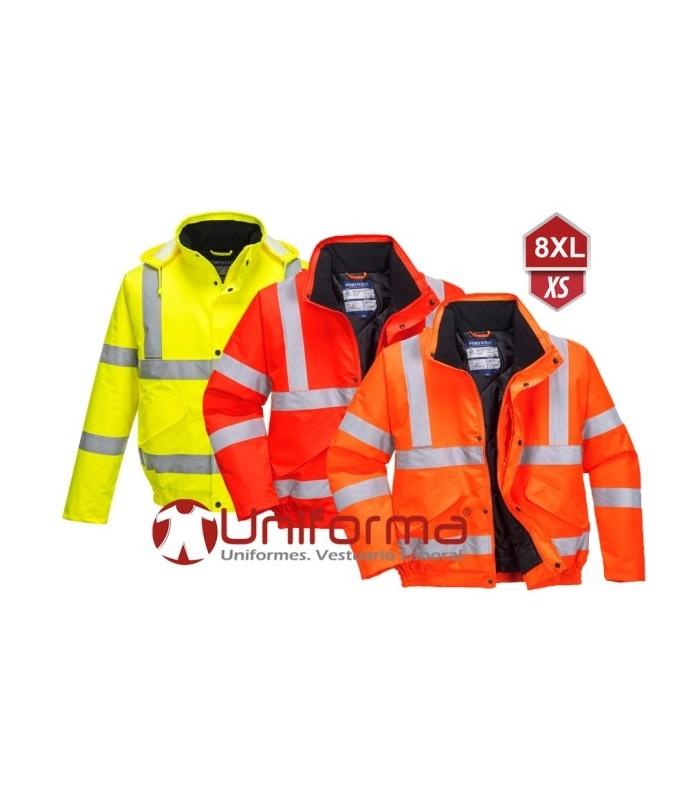 Parka chaquetón trabajo reflectante talla grandes 8 XL