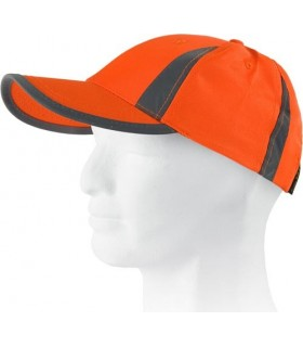 Gorras de alta visibilidad con bandas reflectantes verticales en Uniforma