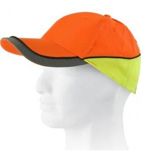 Gorras de alta visibilidad bicolor con detalles reflectantes