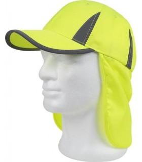 Gorras de alta visibilidad con cubre nuca