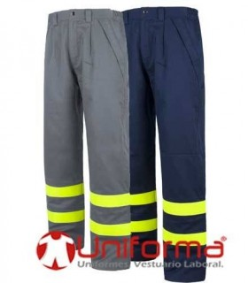 Fire retardant and antistatic triple stitching trouser