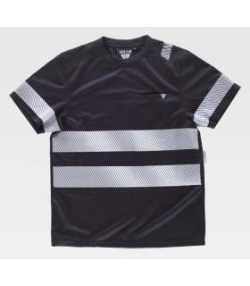Camiseta negra con bandas reflectantes