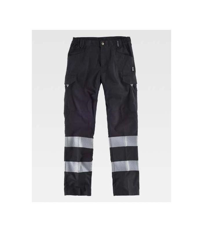 Pantalón negro bandas reflectantes