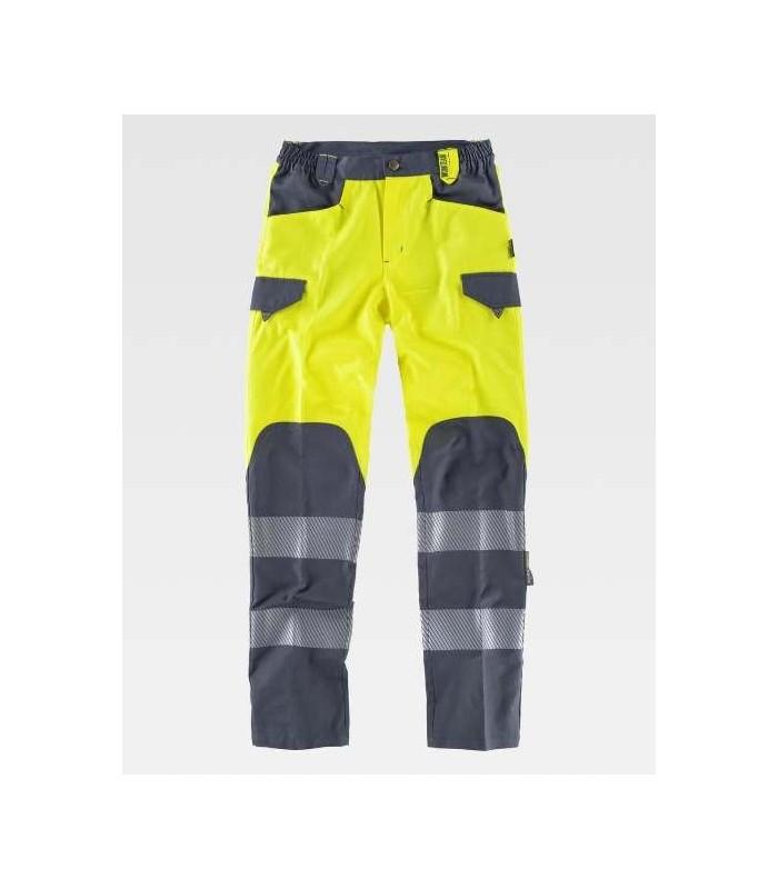 Pantalón alta visibilidad amarillo y gris