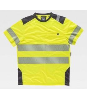Camiseta amarilla bandas segmentadas