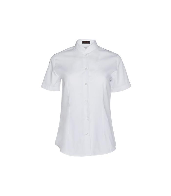 Camisa de mujer cuello mao manga corta