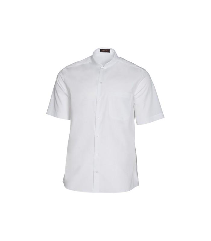 Camisa cuello mao manga corta blanca