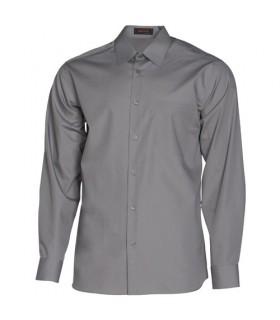 Camisa de manga larga calidad superior uso diario gris