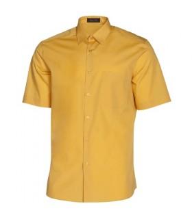 Camisa manga corta buena calidad superior amarilla